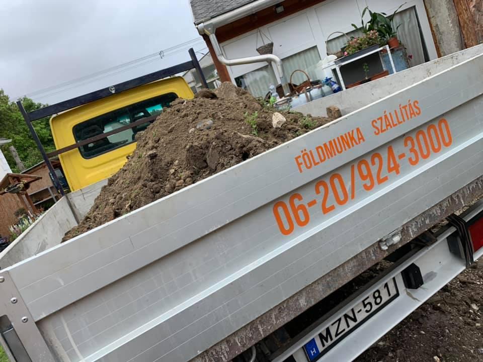 Gépi földmunka Székesfehérvár Billencses teherautó
